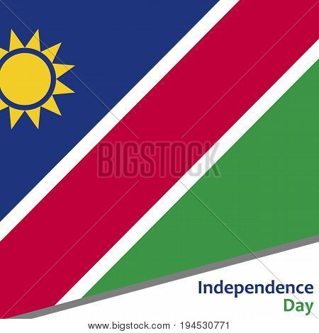Namibia independence day with flag vector illustration for web