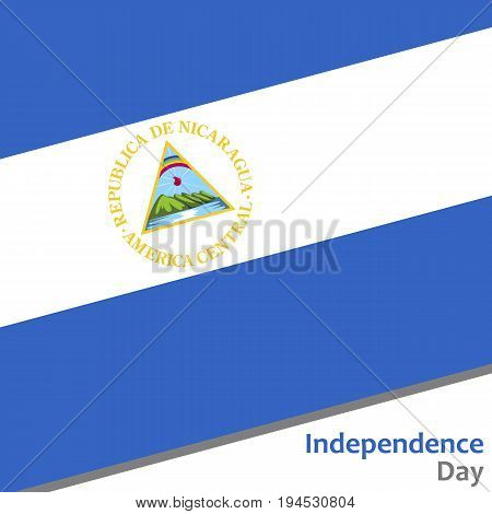 Nicaragua independence day with flag vector illustration for web