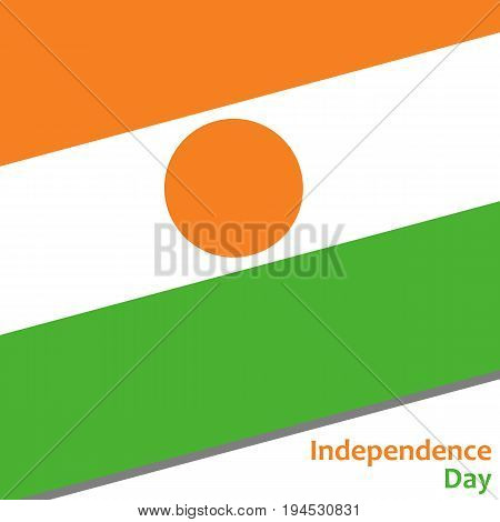 Niger independence day with flag vector illustration for web