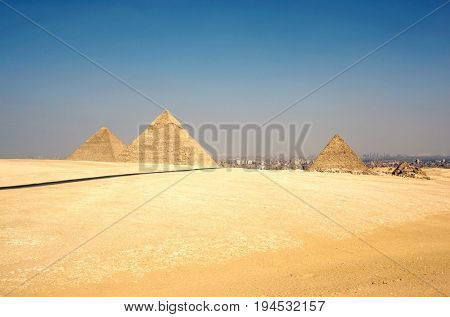 Giza Pyramids, cairo, Egypt, Tranquil Scene, Mystery, Past, Monument, Old Ruin, Egyptian Culture