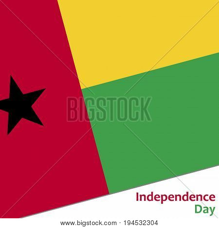 Guinea-Bissau independence day with flag vector illustration for web