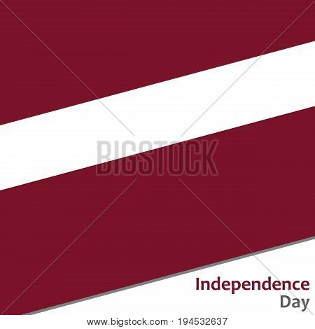 Latvia independence day with flag vector illustration for web