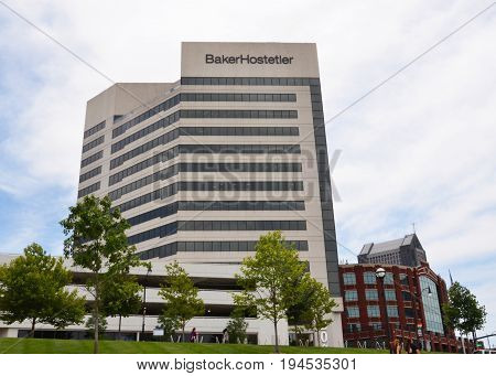 COLUMBUS OH - JUN 28: The BakerHostetler law firm in Columbus OH is shown here on June 28 2017. The law firm celebrated its 100th anniversary in 2016.