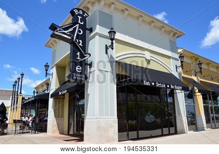 PERRYSBURG OH - JUN 25: Bar Louie in Perrysburg OH is shown here on June 25 2017. There are more than 110 locations in the United States.