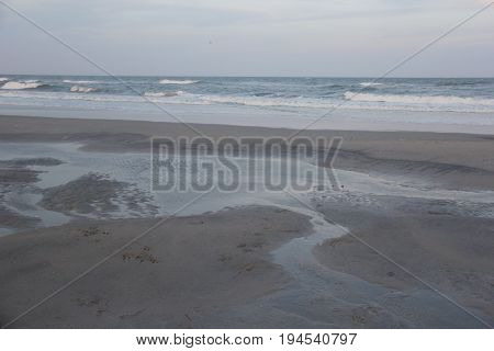 Beach of New Jersey at low tide