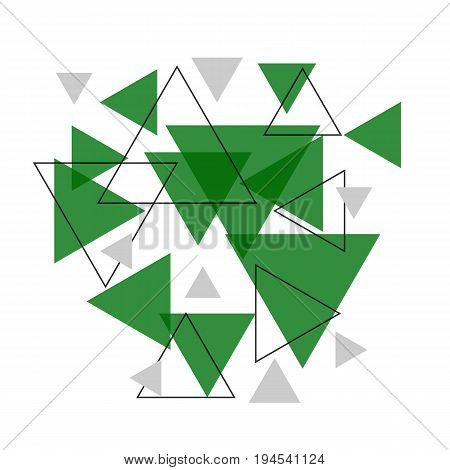 Abstract green triangle banner background, stock vector