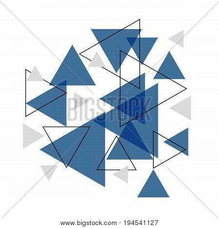 Abstract blue triangle banner background, stock vector