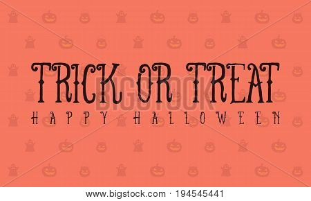 Halloween trick or treat background vector illustration
