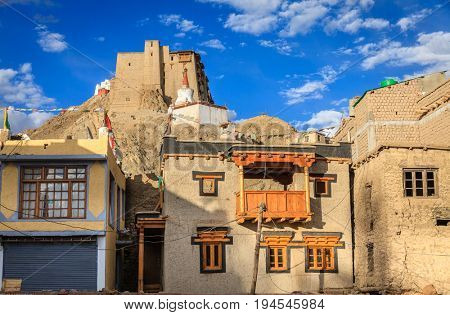 View of Leh Palace or Namgyal Tsemo Monastery in Leh, Ladakh, India