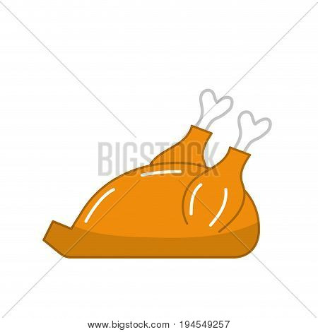 delicious chicken food with natural nutrients vector illustration