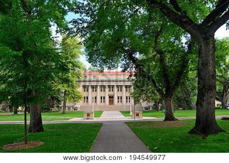 Colorado State University Administrative Building in Fort Collins Colorado