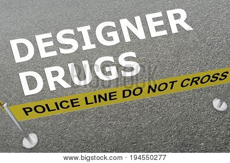 Designer Drugs Concept
