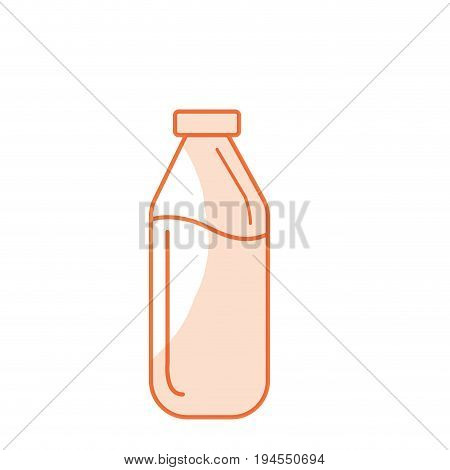 silhouette milk bottle glass with calcium nutrients vector illustration