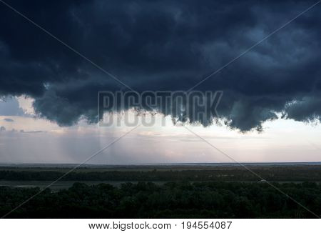 A Black Storm Cloud Above The City