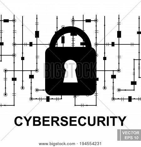 Cyber Security. Breaking. Hacker. Modern Technologies. Computer Virus. The Internet.