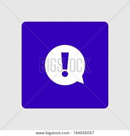 Exclamation mark. Hazard warning symbol. Flat design style. Vector.