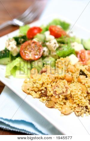 Greek Salad With Savoury Cous Cous