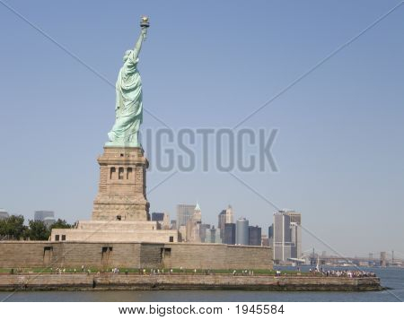 Statue of Liberty at Liberty Island in New York City poster