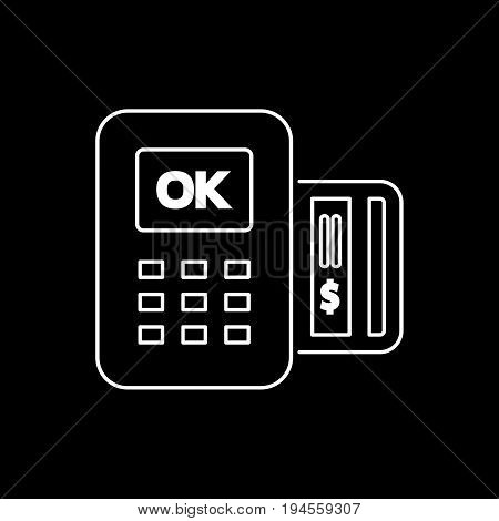 Pos Icon Flat Style Simple Vector Illustration. Payment Terminal
