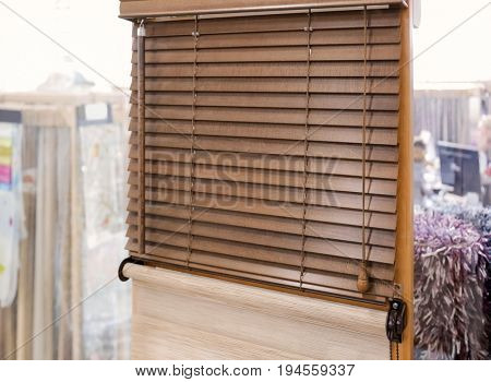 Modern wood blind for home and office in shop