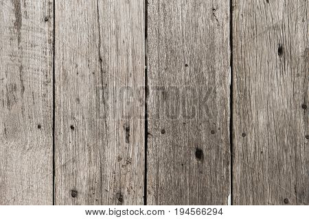 Old Wood Floor Pale Color For Background Texture With Rust Nail