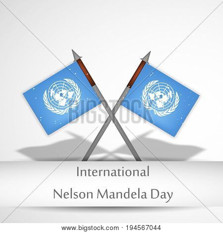 illustration of flags with International Nelson Mandela Day text