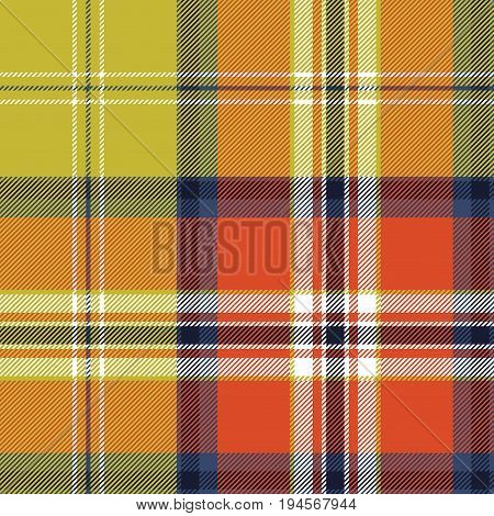 Abstract textile check plaid seamless pattern. Vector illustration.