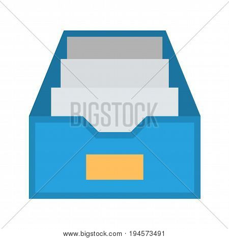 File Cabinet Flat Vector Icon. Flat icon isolated on the white background. Editable EPS file. Vector illustration.
