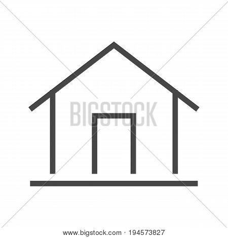 Home Thin Line Vector Icon. Flat icon isolated on the white background. Editable EPS file. Vector illustration.