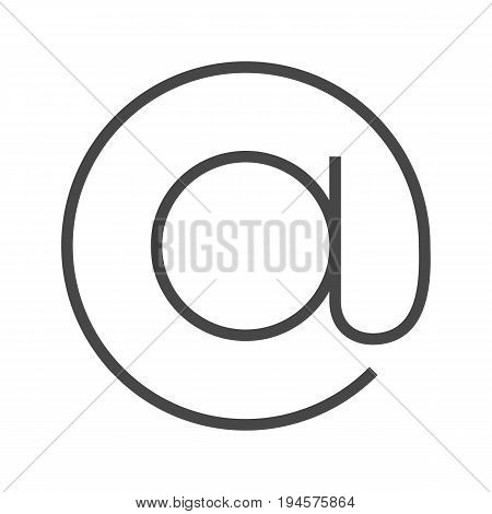 Monkey Thin Line Vector Icon. Flat icon isolated on the white background. Editable EPS file. Vector illustration.