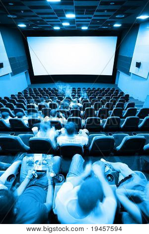 People in a cinema