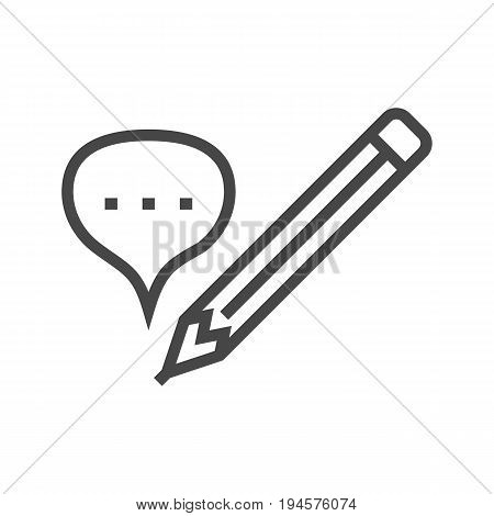 Contact to Us Thin Line Vector Icon. Flat icon isolated on the white background. Editable EPS file. Vector illustration.