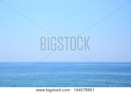 Mediterranean Sea - beautiful seascape sea horizon and blue sky, natural photo background