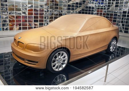 MUNICH GERMANY - JUNE 1 2012 :concept car model at the exposition of BMW Museum