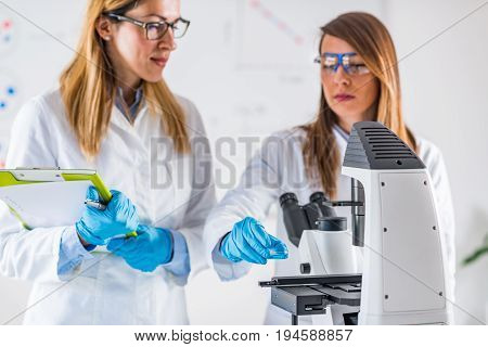 Biotechnology, , Toned Image, Color Image, Two People