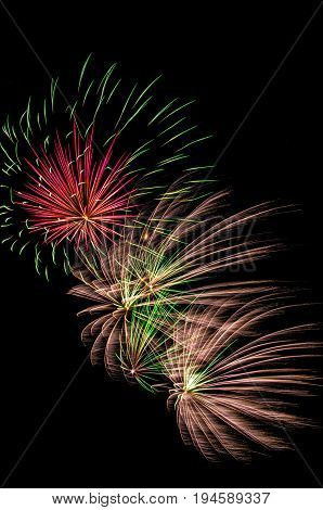 Fireworks closing the 51st annual Ankeny Summerfest in Ankeny IA USA