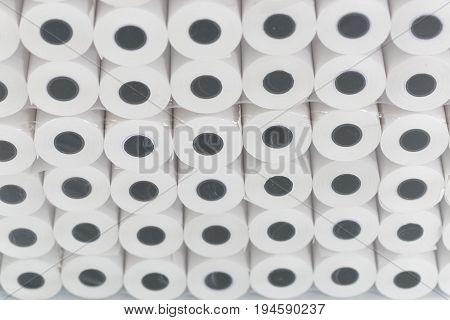 White Rolls Of Cash Register Tape Wholesale