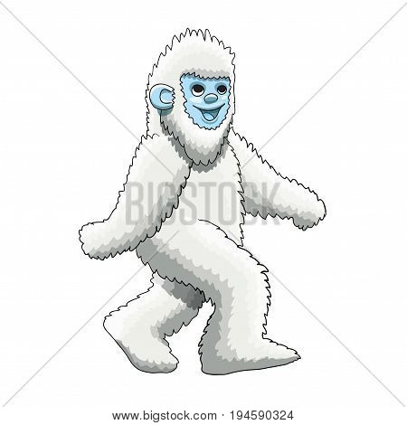 Furry Yeti mascot cartoon character design, vector EPS10