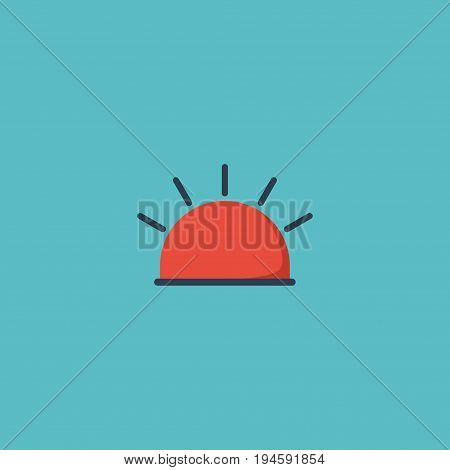 Flat Icon Alarm Element. Vector Illustration Of Flat Icon Siren  Isolated On Clean Background. Can Be Used As Siren, Alarm And Warning Symbols.