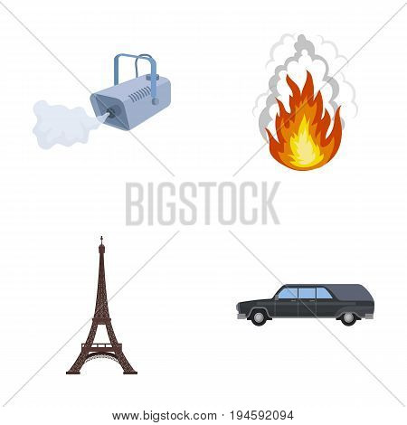 transportation, business, tourism and other  icon in cartoon style., car, hearse, funeral icons in set collection
