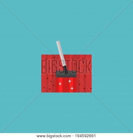 Flat Icon Housekeeping Element. Vector Illustration Of Flat Icon Carpet Vacuuming Isolated On Clean Background. Can Be Used As Carpet, Vacuuming And Housekeeping Symbols.