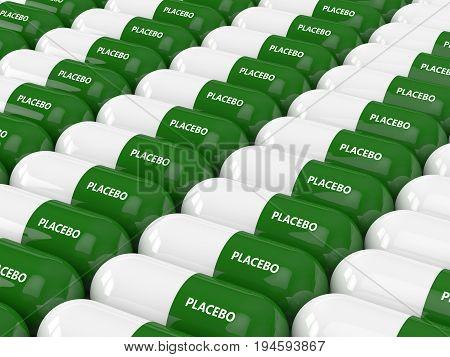 3D Render Of Placebo Pills