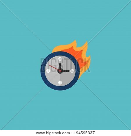 Flat Icon Deadline Element. Vector Illustration Of Flat Icon Limit  Isolated On Clean Background. Can Be Used As Time, Limit And Deadline Symbols.