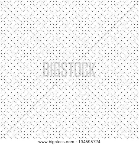 Vector seamless pattern. Trendy modern geometrical texture with regularly repetition small dots dotted lines rhombuses diamonds. Contemporary design.
