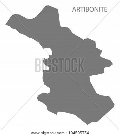 Artibonite Haiti map grey illustration silhouette shape