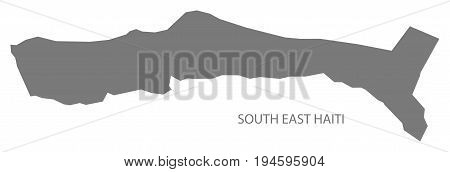 South East Haiti Map Grey Illustration Silhouette