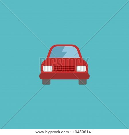 Flat Icon Car Element. Vector Illustration Of Flat Icon Automobile Isolated On Clean Background. Can Be Used As Car, Vehicle And Automobile Symbols.