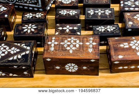 Treasure Chest With Mother Of Pearl Inlay