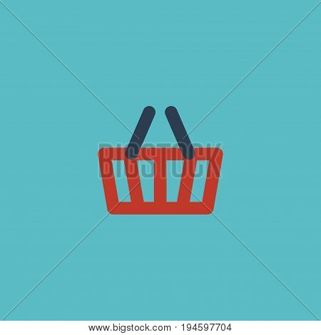 Flat Icon Basket Element. Vector Illustration Of Flat Icon Bag Isolated On Clean Background. Can Be Used As Shopping, Basket And Bag Symbols.