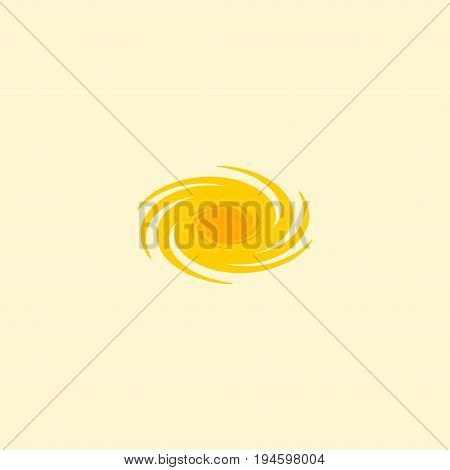 Flat Icon Galaxy Element. Vector Illustration Of Flat Icon Space Isolated On Clean Background. Can Be Used As Galaxy, Space And Cosmos Symbols.